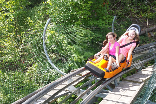 girls riding alpine coaster pigeon forge tennessee