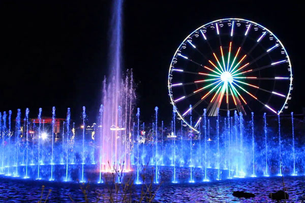 The Island Pigeon Forge Wheel at Night