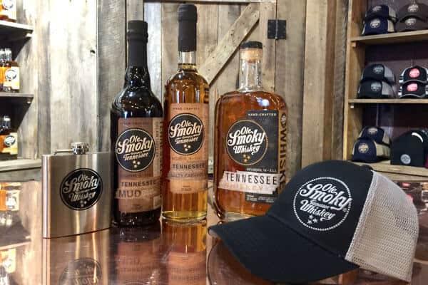 ole smoky whiskeys bottles gatlinburg