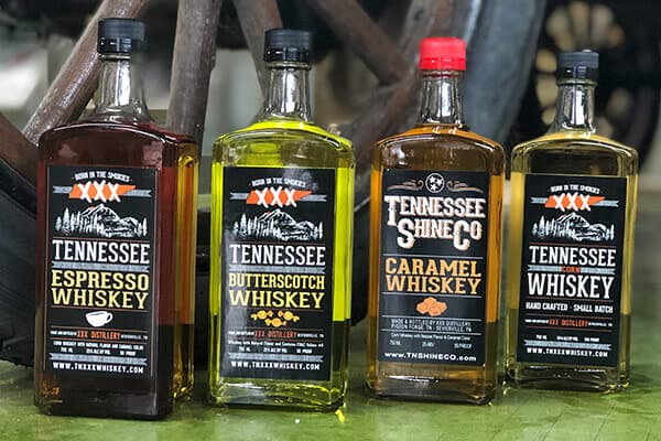 tennessee shine company pigeon forge whiskey variety