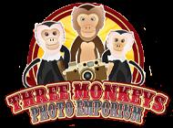 Three Monkeys Photo Emporium logo